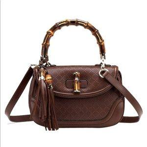 Gucci Handbag Diamanté bamboo satchel